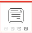 icon of app windows vector image vector image