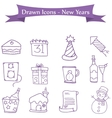 Icon of New Year and Merry Christmas element vector image vector image
