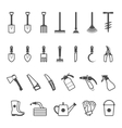 icon set of garden tools vector image