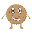isolated happy cookie cartoon character vector image