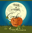 jack-o-lantern on a background of the full moon vector image