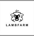 lamb logo simple sheep head vector image vector image