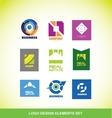 Logo elements company icon set vector image