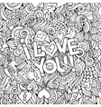 Love hand lettering and doodles elements vector image vector image
