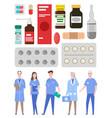 medical staff doctors medics physician vector image vector image