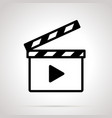 movie clap simple black on gray vector image