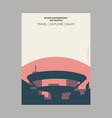 niteroi contemporary art museum brazil vintage vector image
