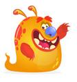 orange monster cartoon vector image vector image