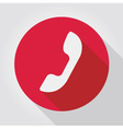 Phone icon red flat design vector image vector image