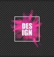 pink powder splash banner - realistic color vector image