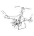 qadrocopter rendering of 3d vector image