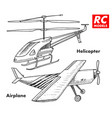 rc transport remote control models toys design vector image
