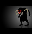 scary monster lurking in the dark vector image vector image