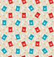 Seamless Pattern of Package Boxes and Cigarettes vector image