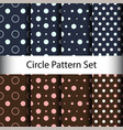 set circle seamless pattern background vector image vector image