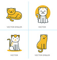 set icons and in trendy linear style vector image vector image