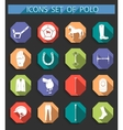 Set of icons polo in flat style vector image