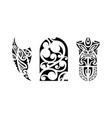 set of polynesian tattoo vector image