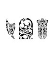 set polynesian tattoo vector image