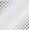 silver polka dot pattern background vector image vector image
