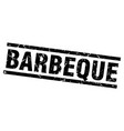 square grunge black barbeque stamp vector image vector image