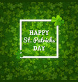 st patricks backgrounds with clovers vector image