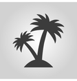 The palm icon Island symbol Flat vector image