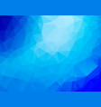 triangle abstract background of blue ice winter vector image vector image