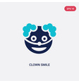 two color clown smile icon from halloween concept vector image