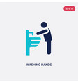 two color washing hands icon from behavior vector image vector image