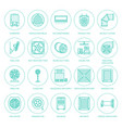 ventilation equipment flat line icons air vector image vector image