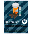 vet pharmacy color isometric poster vector image