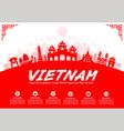 Vietnam Travel Landmarks vector image vector image