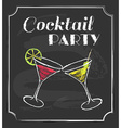 Vintage cocktail party poster Chalkboard style vector image