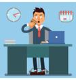 Businessman Working Day Businessman at Work vector image