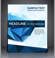 abstract business brochure flyer geometric design vector image vector image