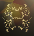abstract floral style eid mubarak vector image vector image