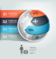 Abstract globe infographics travel transportation vector image