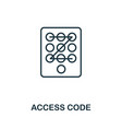 access code thin line icon creative simple design vector image