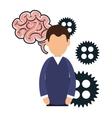 avatar man and brain vector image