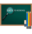 back to school board concept background realistic vector image