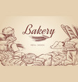 bakery background hand drawn cooking bread