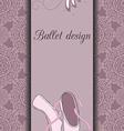 Ballet design card