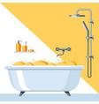 bathroom interior vector image vector image