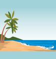 beach seascape scene icon vector image