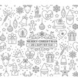 big set christmas design element in doodle vector image vector image