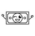 bill dollar kawaii character vector image