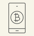 bitcoin digital wallet thin line icon bitcoin vector image vector image