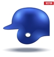 Blue baseball helmet vector image vector image