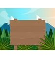 board sign wooden forest jungle background vector image vector image